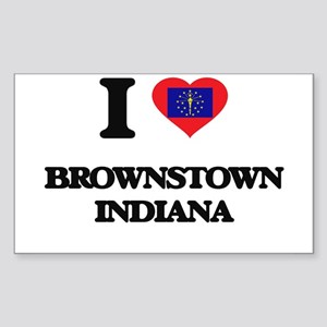 I love Brownstown Indiana Sticker