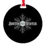 Boston 2015 Winter Round Ornament