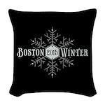Boston 2015 Winter Woven Throw Pillow