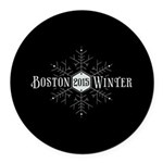 Boston 2015 Winter Round Car Magnet