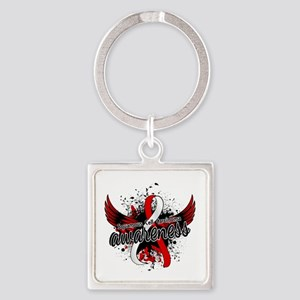 Squamous Cell Carcinoma Awareness Square Keychain