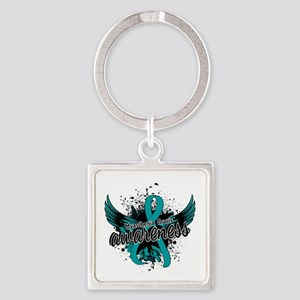 Myasthenia Gravis Awareness 16 Square Keychain