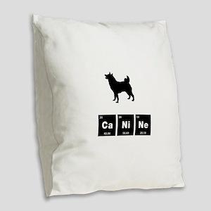 Norwegian Elkhound Burlap Throw Pillow