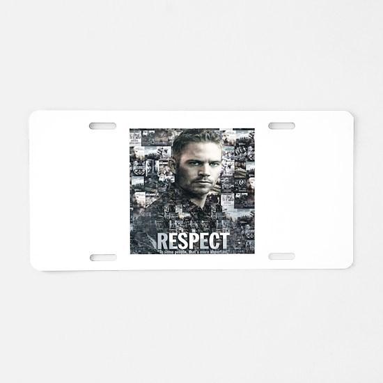 Paul T Shirt Aluminum License Plate