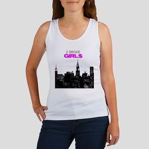 2 Broke Girls in the City Tank Top