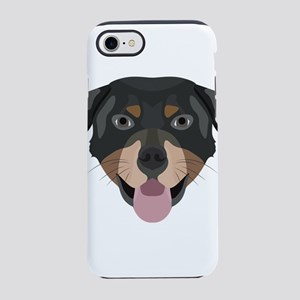 Illustration dogs face Rottwei iPhone 7 Tough Case