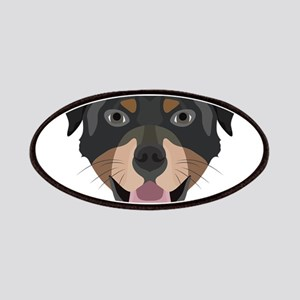 Illustration dogs face Rottweiler Patch