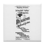 Reading Railroad System 1894 Tile Coaster