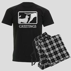 Norwegian Lundehund Men's Dark Pajamas