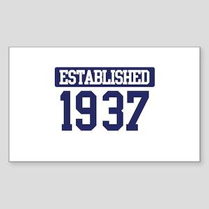 Established 1937 Rectangle Sticker