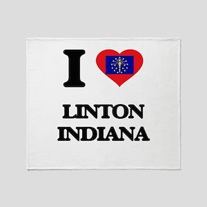 I love Linton Indiana Throw Blanket