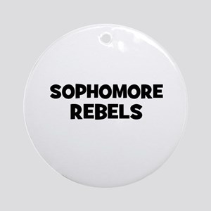 Sophomore Rebels Ornament (Round)