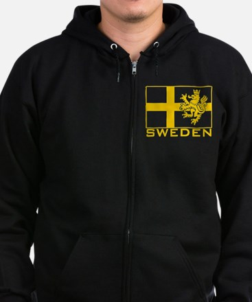 Cute Made in sweden Zip Hoodie (dark)