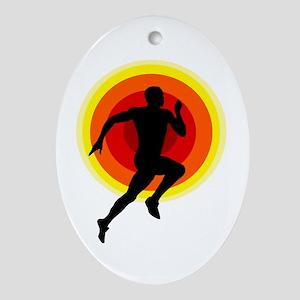 Runner Oval Ornament