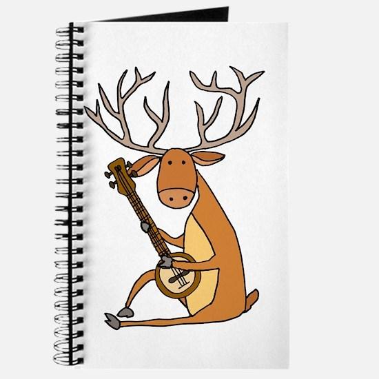 Funny Deer Playing Banjo Journal