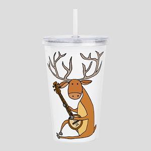 Funny Deer Playing Ban Acrylic Double-wall Tumbler