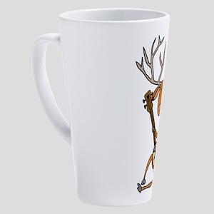 Funny Deer Playing Banjo 17 oz Latte Mug