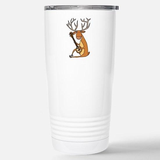 Funny Deer Playing Banjo Mugs