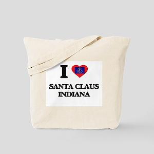 I love Santa Claus Indiana Tote Bag