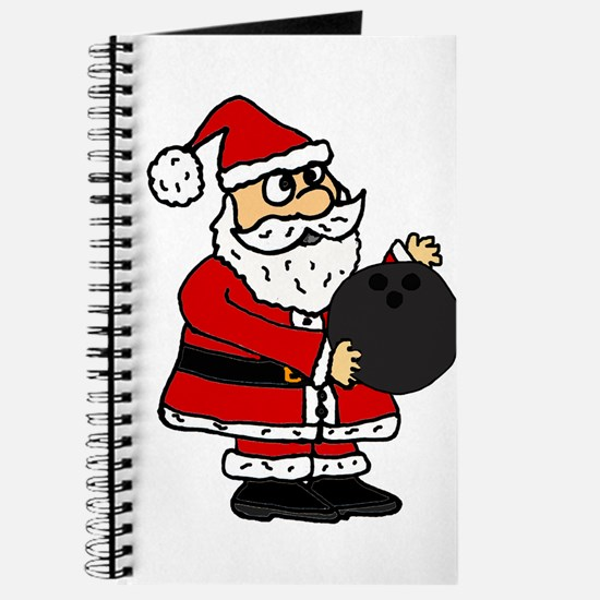 Funny Santa Claus Bowling Journal