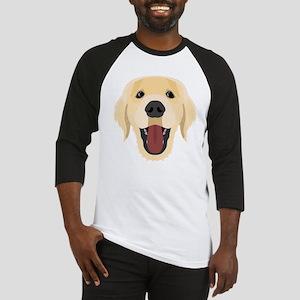 Illustration dogs face Golden Retr Baseball Jersey