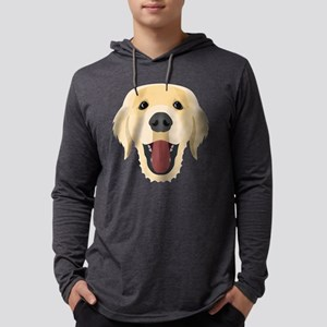 Illustration dogs face Golden Long Sleeve T-Shirt