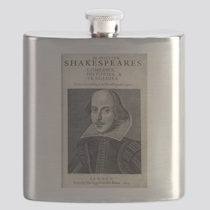 William Shakespeare Portrait Flask