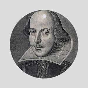 William Shakespeare Portrait Ornament (Round)