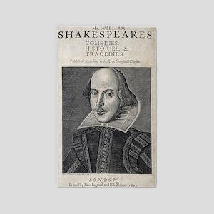 William Shakespeare Portrait Area Rug
