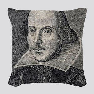 William Shakespeare Portrait Woven Throw Pillow