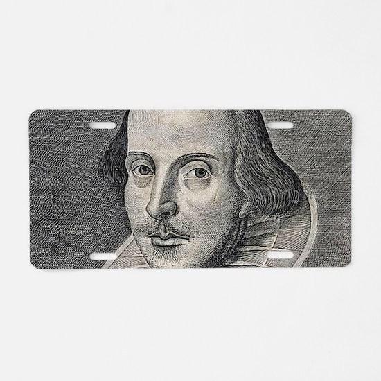 William Shakespeare Portrai Aluminum License Plate