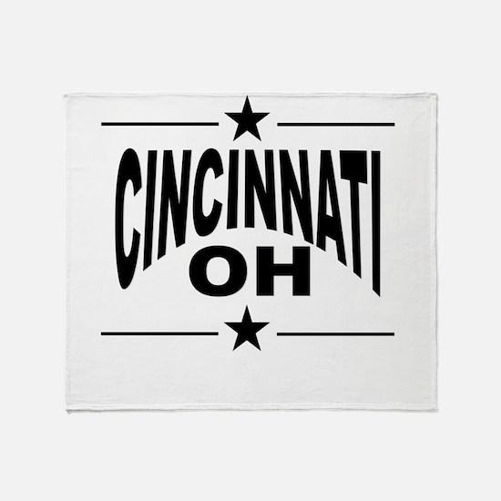 Cincinnati OH Throw Blanket