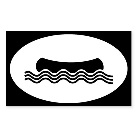 Canoe Shape Sticker (Rectangle)