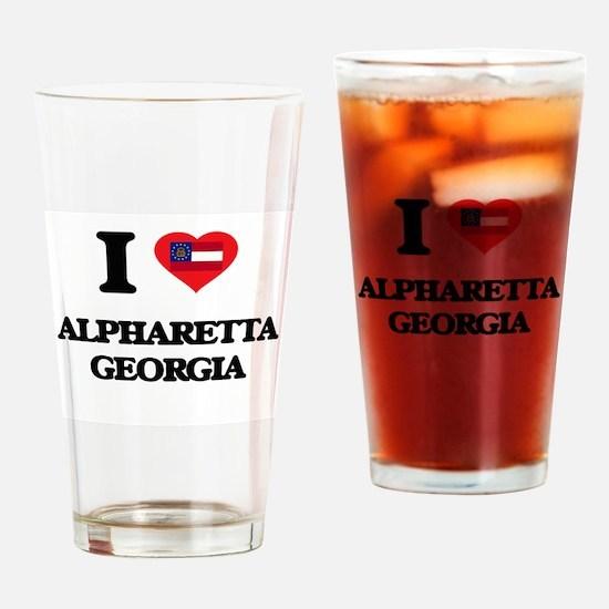 I love Alpharetta Georgia Drinking Glass