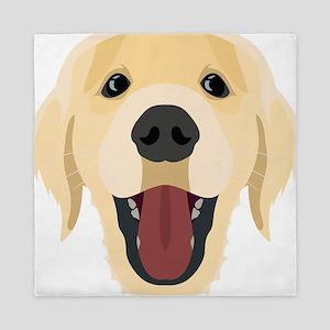 Illustration dogs face Golden Retriver Queen Duvet
