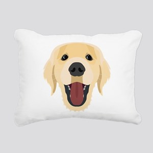 Illustration dogs face G Rectangular Canvas Pillow
