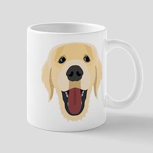 Illustration dogs face Golden Retriver Mugs