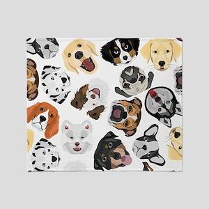 Illustration Pattern Dogs Throw Blanket