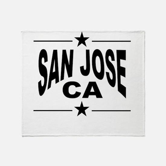 San Jose CA Throw Blanket