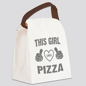 THIS GIRL LOVES PIZZA Canvas Lunch Bag
