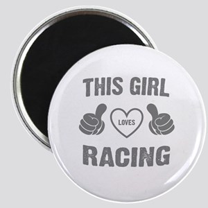 THIS GIRL LOVES RACING Magnet
