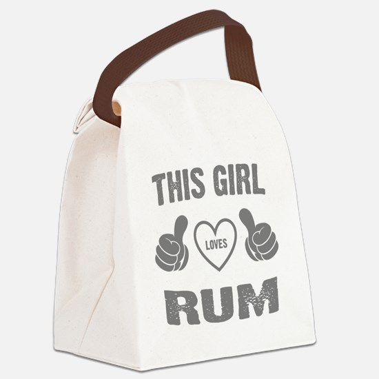 THIS GIRL LOVES RUM Canvas Lunch Bag