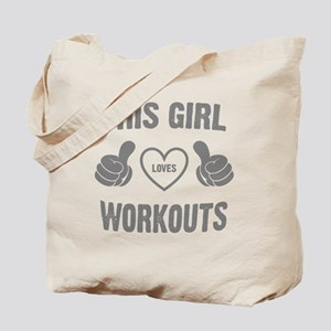 THIS GIRL LOVES WORKOUTS Tote Bag