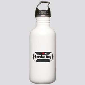 I Love My Service Dog Stainless Water Bottle 1.0L