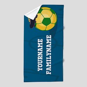 Personalized Soccer Brazil Sports Beach Towel