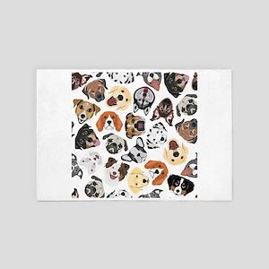 Illustration Pattern sweet Domestic Do 4' x 6' Rug