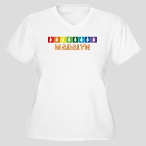Lesbian Madalyn Women's Plus Size V-Neck T-Shirt