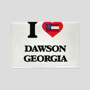 I love Dawson Georgia Magnets
