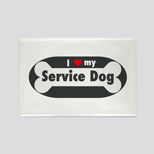 I Love My Service Dog Magnets