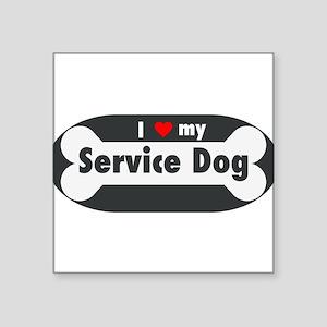 I Love My Service Dog Sticker